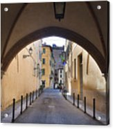 Streets Of Brescia Acrylic Print