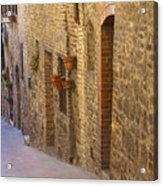 Streets Of San Gimignano Acrylic Print