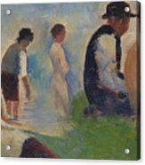 Study For Bathers At Asnieres Acrylic Print