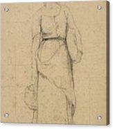 Study Of A Peasant Woman Acrylic Print