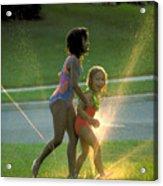 Summer Fun In A Sprinkler Acrylic Print