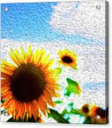 Sunflowers Abstract Acrylic Print