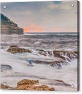 Sunrise Seascape And Headland Acrylic Print