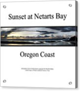 Sunset At Netarts Bay Acrylic Print