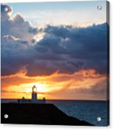 Sunset At Strumble Head Lighthouse Acrylic Print