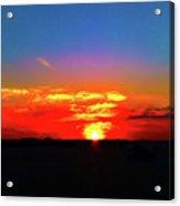 Sunset At Work Acrylic Print