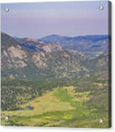 Superb Landscape In Rocky Mountain National Park Acrylic Print
