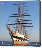 Tall Ship Anchored Off Penzance Acrylic Print