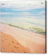 Tangalooma Island Beach In Moreton Bay.  Acrylic Print