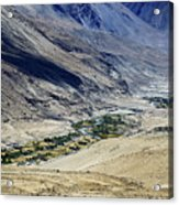 Tangsey Village Landscape Of Leh Ladakh Jammu And Kashmir India Acrylic Print
