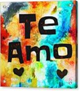 Te Amo Acrylic Print