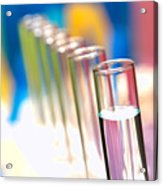 Test Tubes In Science Lab Acrylic Print