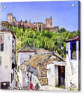 The Alhambra From The Albaicin Acrylic Print