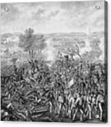The Battle Of Gettysburg Acrylic Print