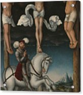 The Crucifixion With The Converted Centurion Acrylic Print