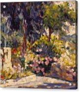The Flowered Terrace Acrylic Print