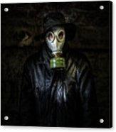 The Gas Mask Man Acrylic Print