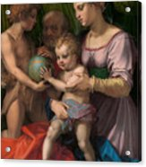 The Holy Family With The Young Saint John The Baptist Acrylic Print