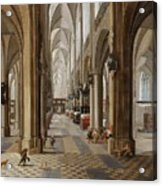The Interior Of The Onze Lieve Vrouwekerk In Antwerp Acrylic Print