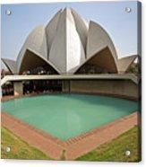 The Lotus Temple In New Delhi Acrylic Print
