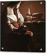 The Magdalen With The Smoking Flame Acrylic Print