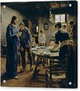 The Mealtime Prayer Acrylic Print