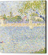 The Seine Seen From La Grande Jatte Acrylic Print