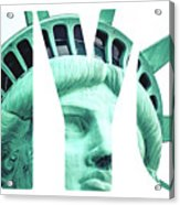 The Statue Of Liberty At New York City  Acrylic Print