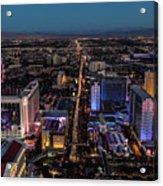 the Strip at night, Las Vegas Acrylic Print