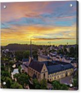 The Superb View Of The Grund, Luxembourg Acrylic Print