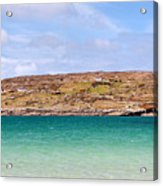 The Turquoise Water Of Dogs Bay Ireland Acrylic Print