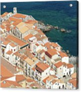 The View From The Rocca De Cefalu Acrylic Print