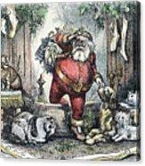 Thomas Nast: Santa Claus Acrylic Print by Granger