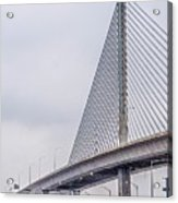 Toledo Ohio City Skyline And Bridges Around Downtown Acrylic Print