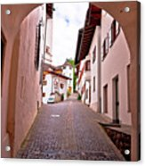Town Of Kastelruth Street View Acrylic Print