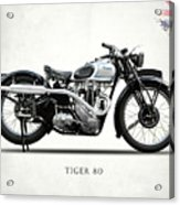 Triumph Tiger 80 1937 Acrylic Print