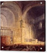 Turner Joseph Mallord William Transept Of Ewenny Prijory Glamorganshire Joseph Mallord William Turner Acrylic Print
