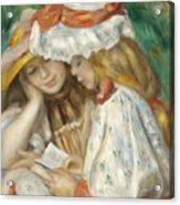 Two Girls Reading Acrylic Print