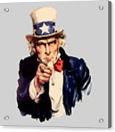 Uncle Sam Acrylic Print
