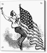 U.s. Flag, 19th Century Acrylic Print