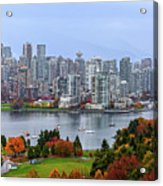Vancouver In Fall Acrylic Print