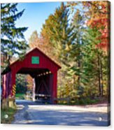 Vermonts Moseley Covered Bridge Acrylic Print