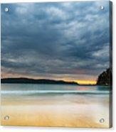 Vibrant Cloudy Sunrise Seascape Acrylic Print