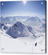 View From Summit Of Valluga, St Saint Anton Am Arlberg Austria Acrylic Print