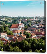 view of downtown in Vilnius city, Lithuanian Acrylic Print