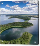 View Of Small Islands On The Lake In Masuria And Podlasie  Acrylic Print