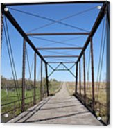Vintage Steel Girder Bridge Acrylic Print