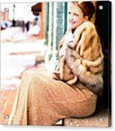 Vintage Val Winter Glam Acrylic Print