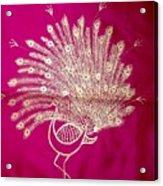 Warli Peacock  Acrylic Print
