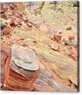 Wash 3 Color In Valley Of Fire Acrylic Print